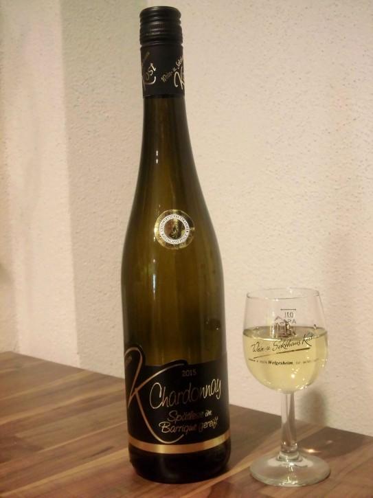 2015 Chardonnay SPÄTLESE im Barriquefass gereift -trocken- 0,75l - GOLDENE KAMMERPREISMÜNZE