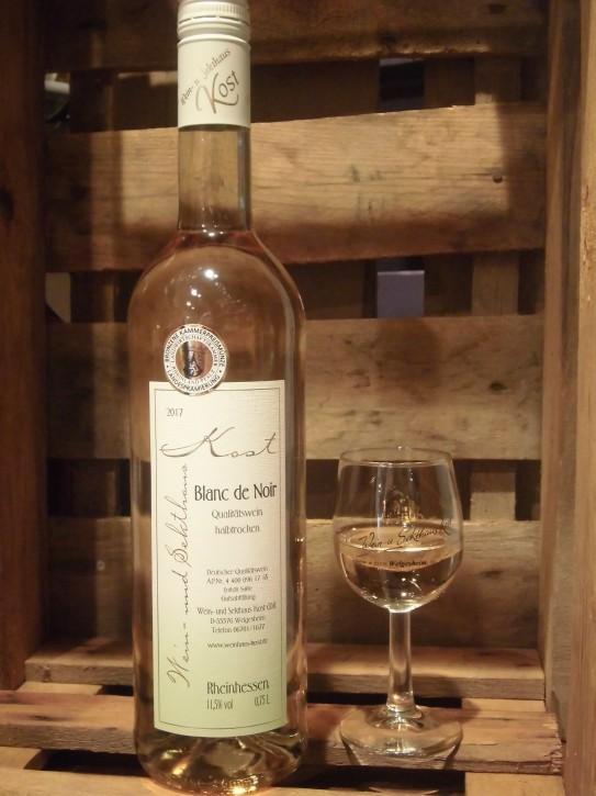 2017 Blanc de Noir halbtrocken 0,75l - Der weiß gekelterte Rotwein -Bronze Kammerpreismünze-