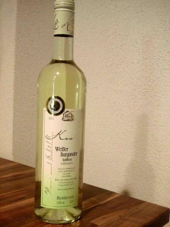 2015 Weißer Burgunder (PINOT BLANC) SPÄTLESE 0,75l - GOLDENE KAMMERPREISMÜNZE