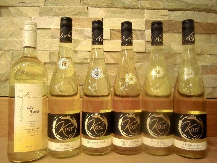 6er Probierpaket Weißwein  -trocken- 5Fl. 0,75l + 1 Fl.1l