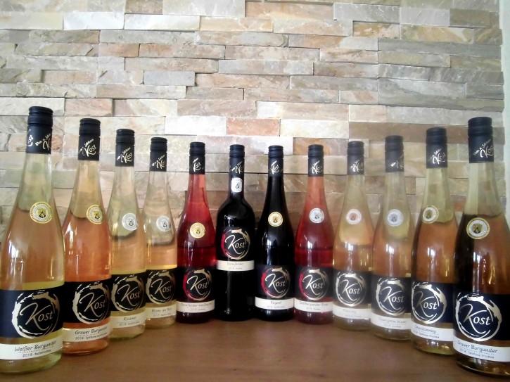12er Probierpaket - Weinprobe -trocken u. halbtrocken- 12 Fl. x 0,75l