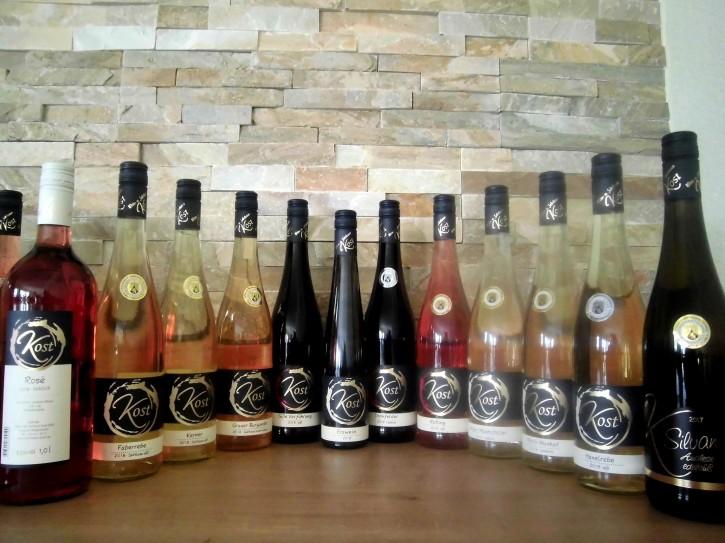 12er Probierpaket - Weinprobe  lieblich-süß  9 Fl. x 0,75l + 2 Fl. x 1l + 1Fl. x 0,375l
